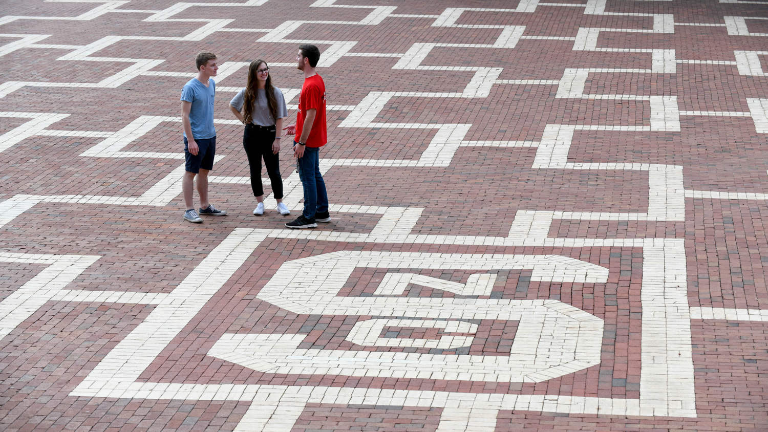 students in the brickyard