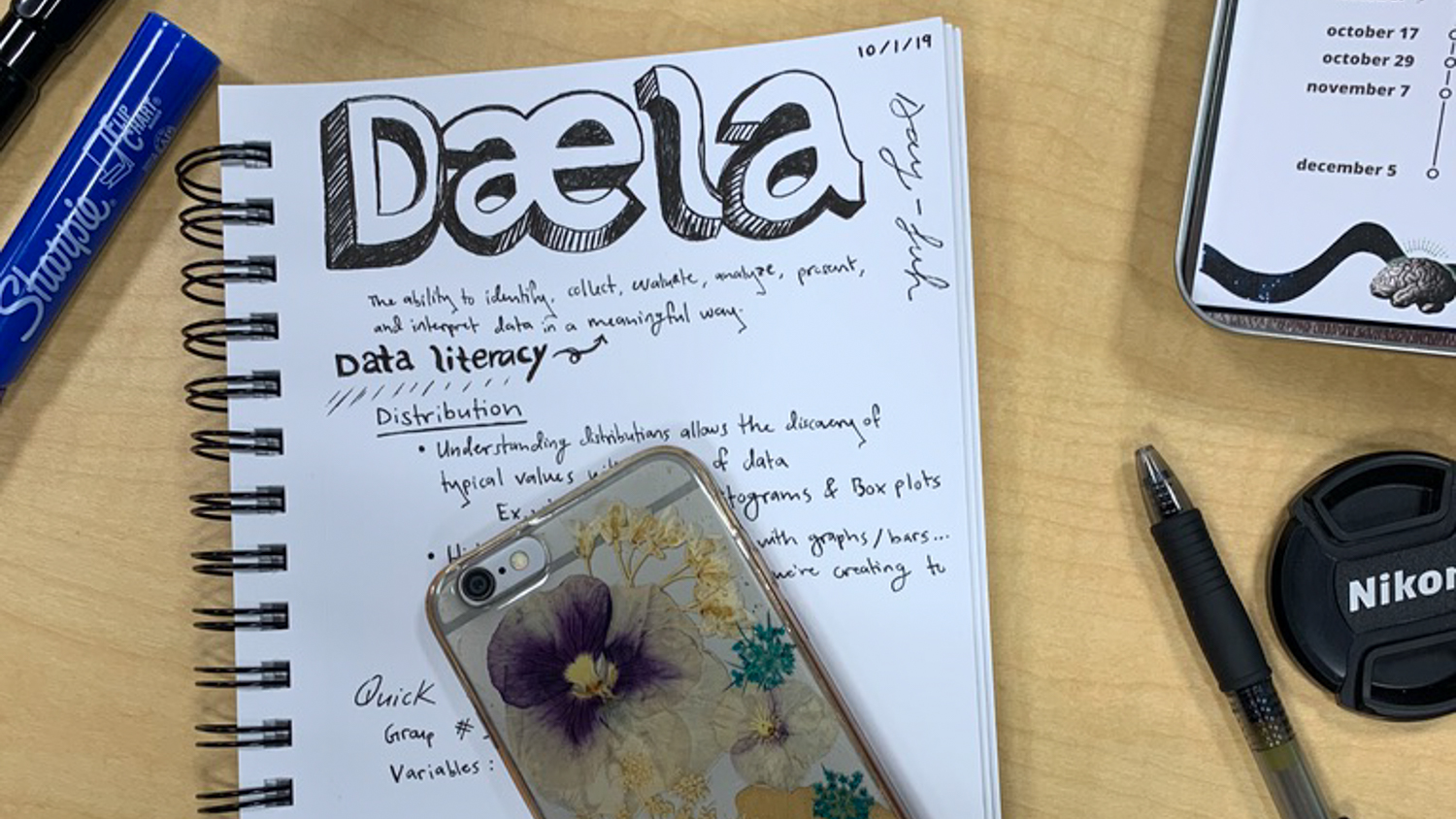 image of student notebook