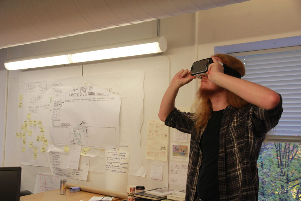 Andrew with VR headset