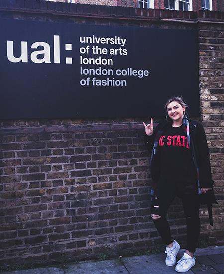 Samantha Bratzke during Study Abroad