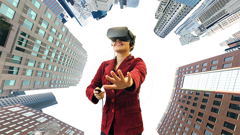 Using Virtual Reality to Plot Urban Green Spaces