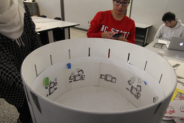 Zoetrope wheel at NC State College of Design