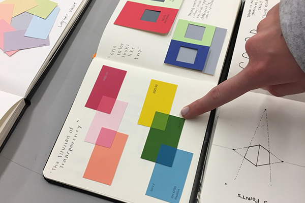 sketchbook project critique at NC State College of Design