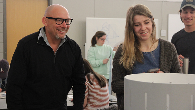 zoetrope with Pat FitzGerals, students, animation