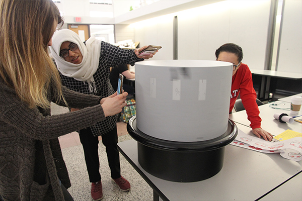 zoetrope in action at NC State Collegle of Design