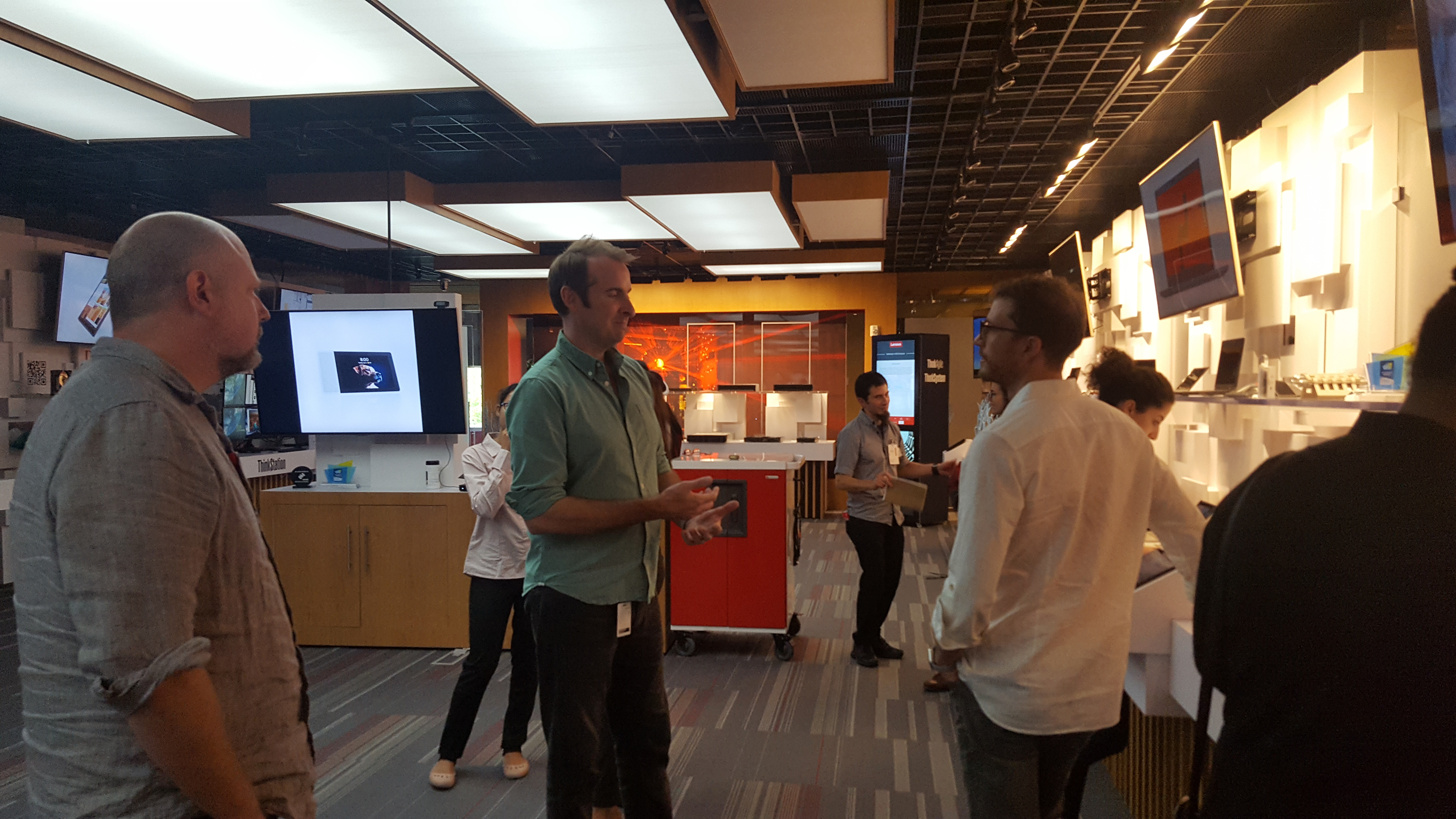 Students visiting Lenovo's office