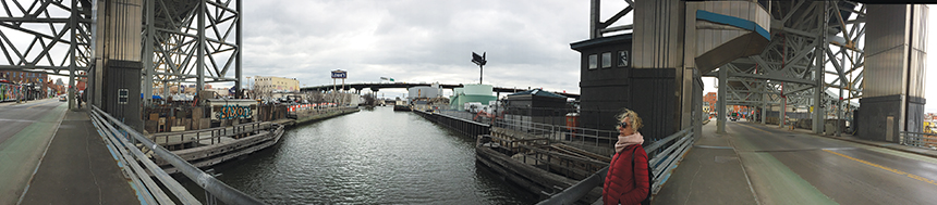 panoramic of canal