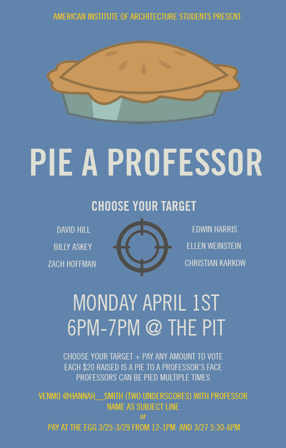 Pie A Professor with AIAS NC State Design