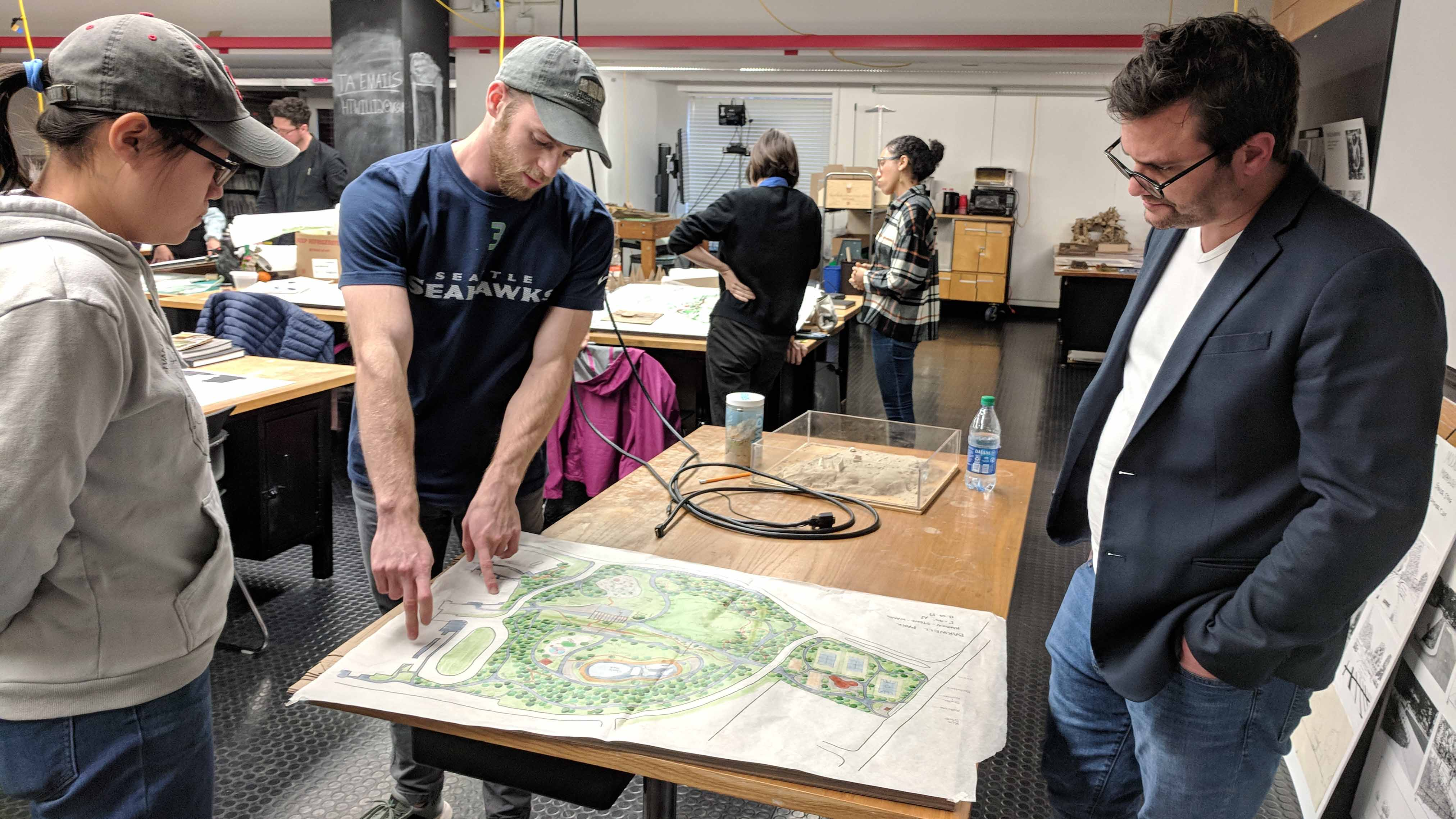 OJB Shares Cary Project and Connects with Landscape Architecture Students Over Park Project