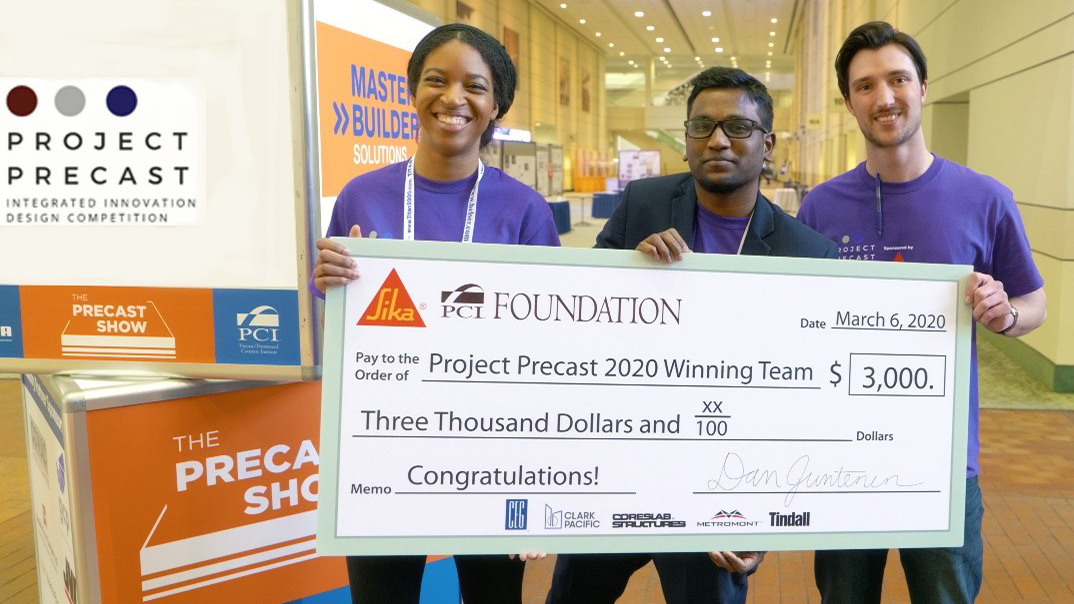 ARC 503 Student wins Precast Concrete Competition