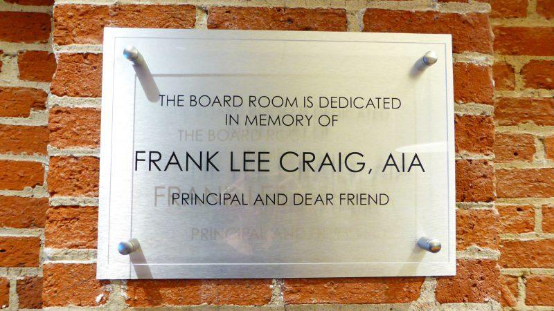 FLC Cline Design 25 years, 2014. Honoring Frank.