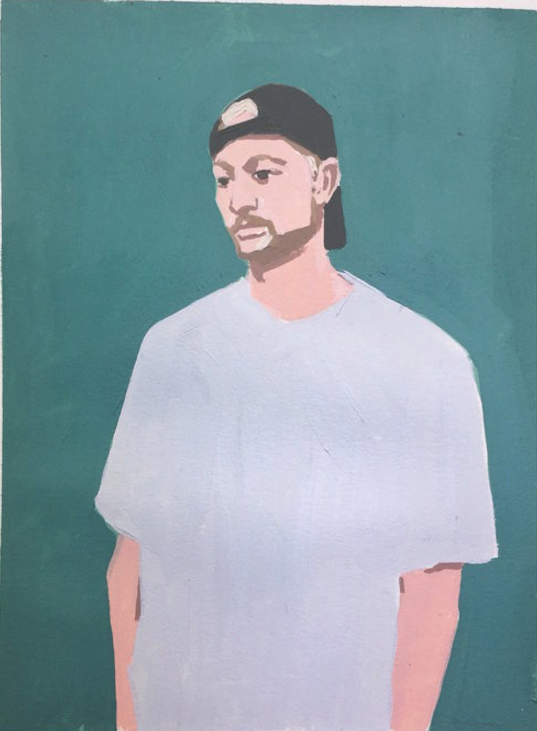 Big Brother, 9 x 12, Acrylic + Gouache on Paper