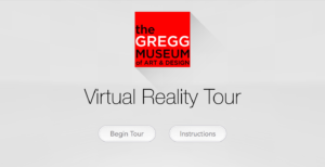 Menu for the VR app built by NCSU students