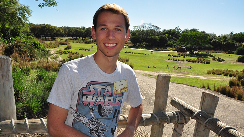 Ryan Williams at the Disney Theme Park