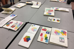 Sketchbook project review at NCState College of Design