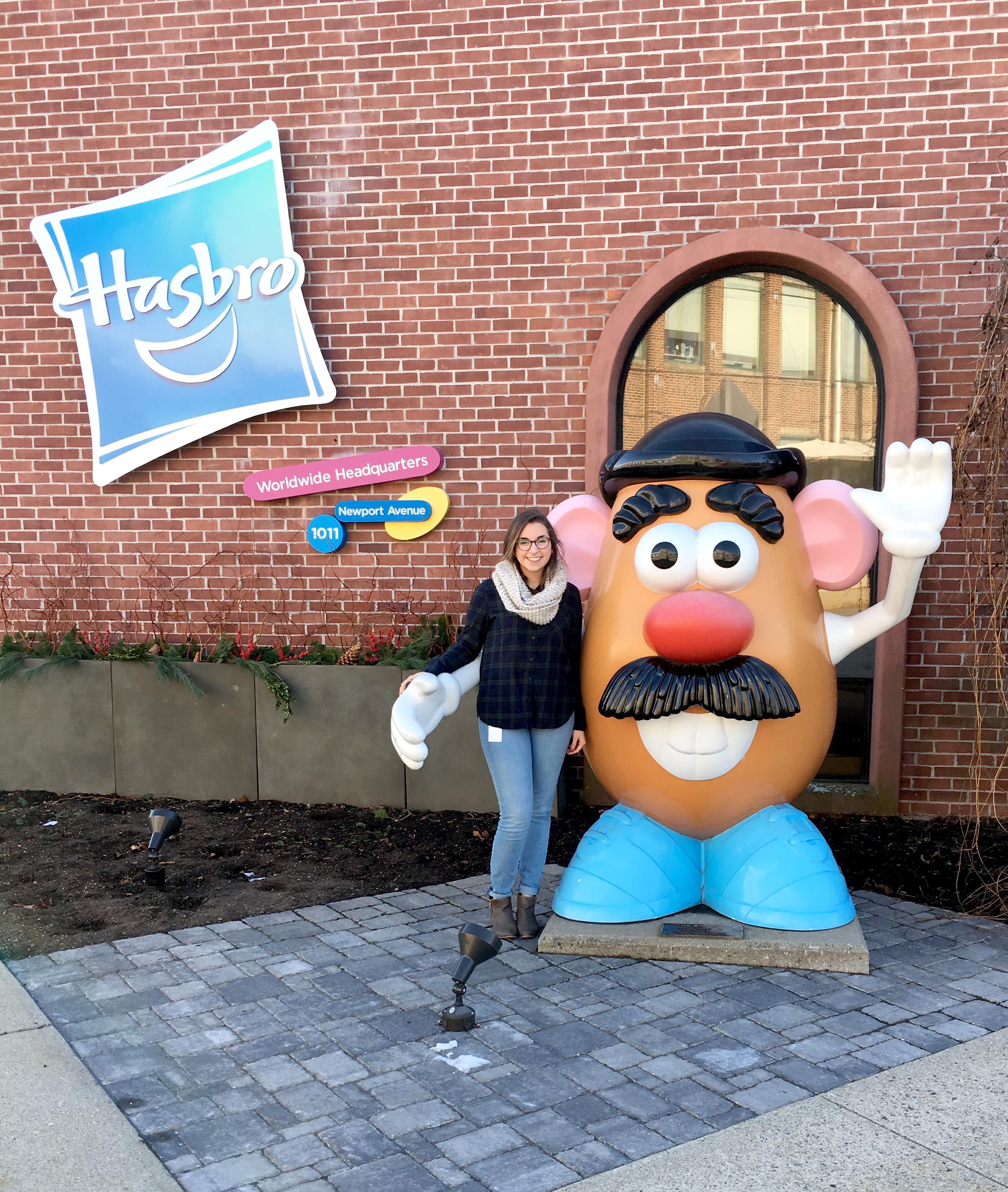 Emily Wise at Hasbro Headquarters