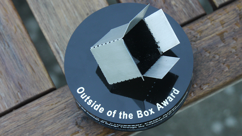 top view of the award