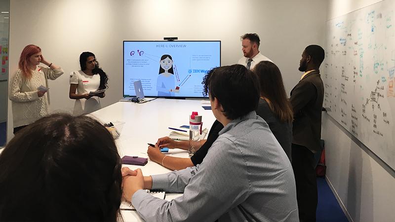 Team presentation at IBM
