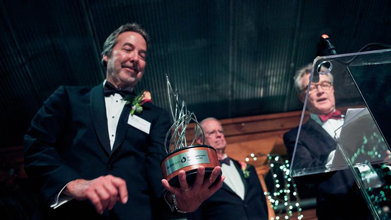 Don Tise holding the new Designlife Award
