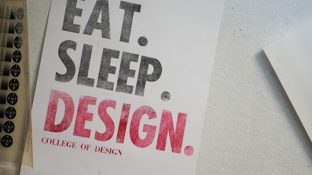 Eat. Sleep. Design. Poster