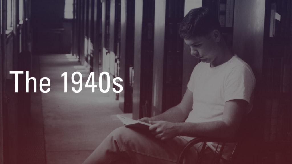 1940s-Student-Reading-Brooks-Hall