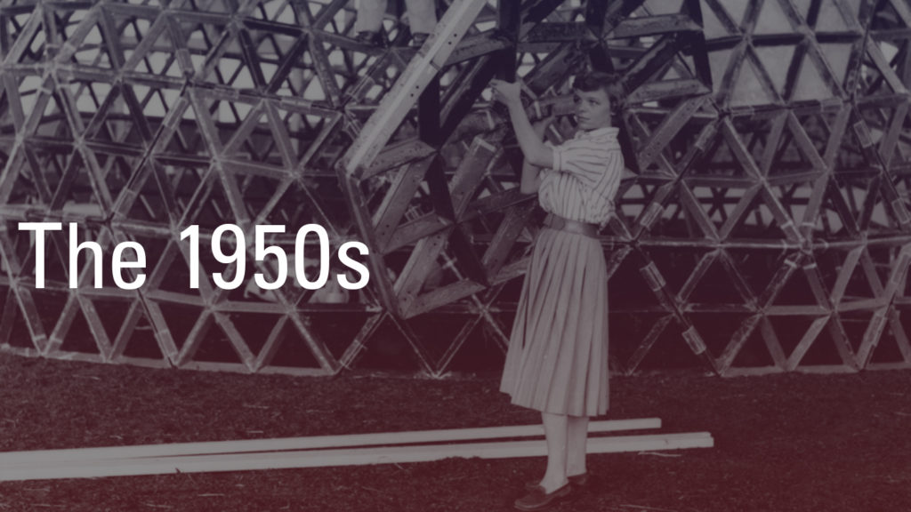 1950s-Student-Constructing-Dome