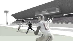 rendering of precast football stadium