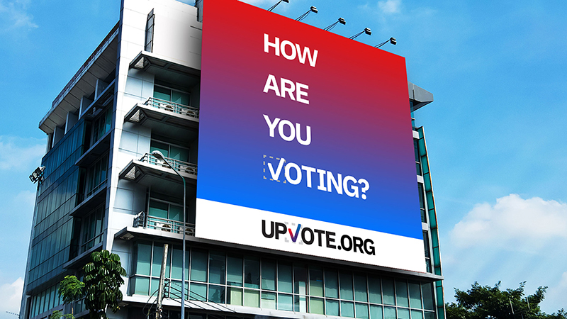 Billboard for UPVOTE