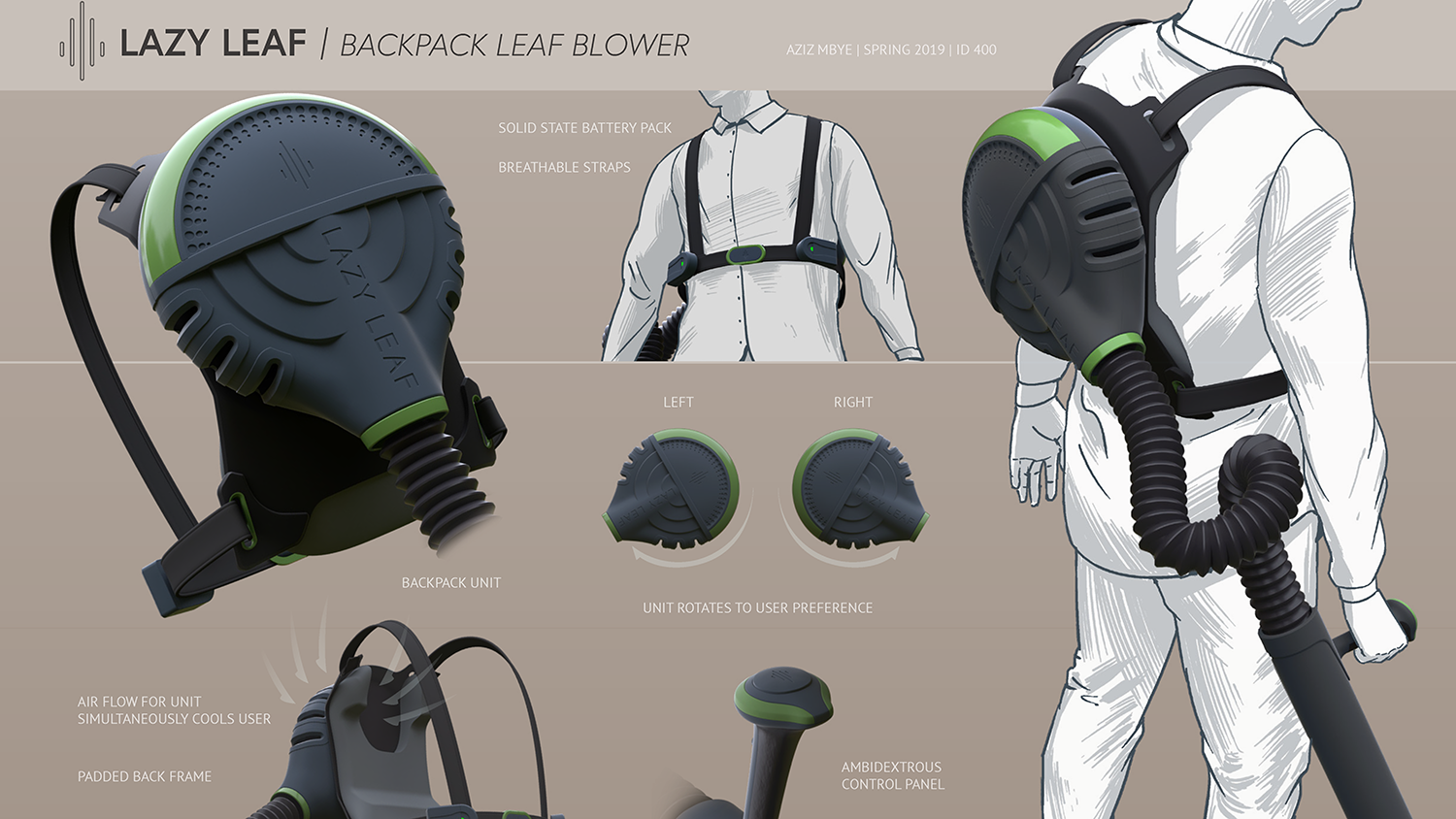 Lazy Leaf | Backpack Leaf Blower