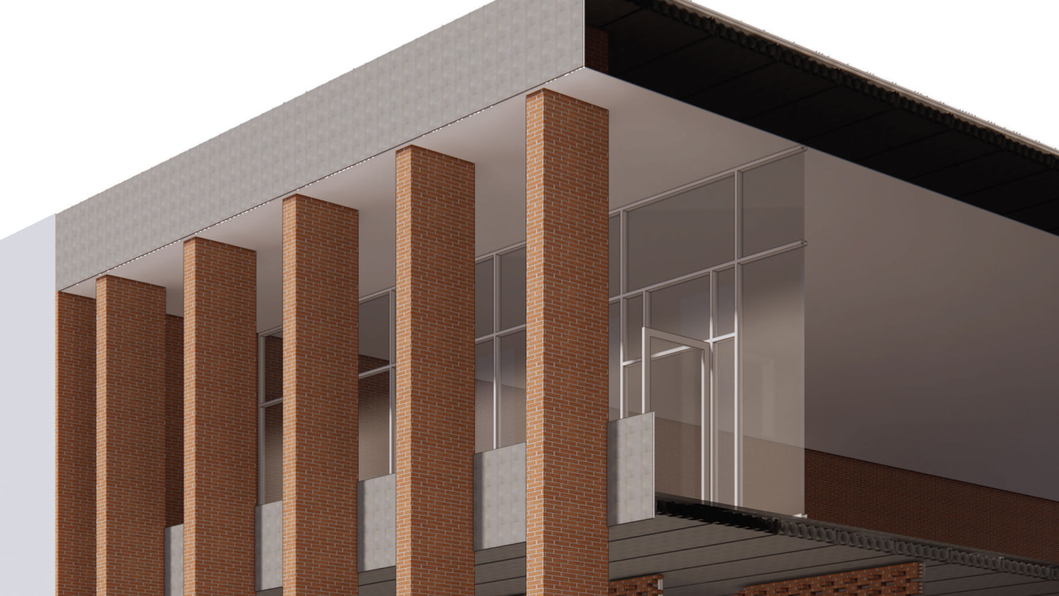 Winning student entry from the Sigmon Memorial Masonry Design Project