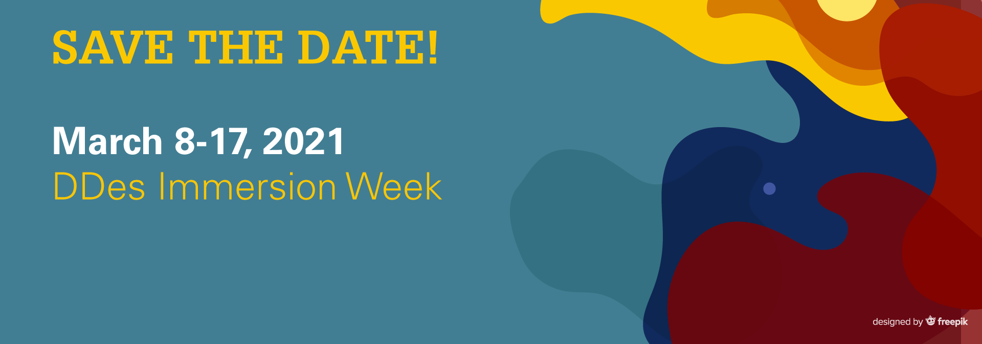 Save the Date for DDes Immersion Week
