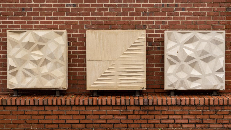 Three Precast Concrete Panels