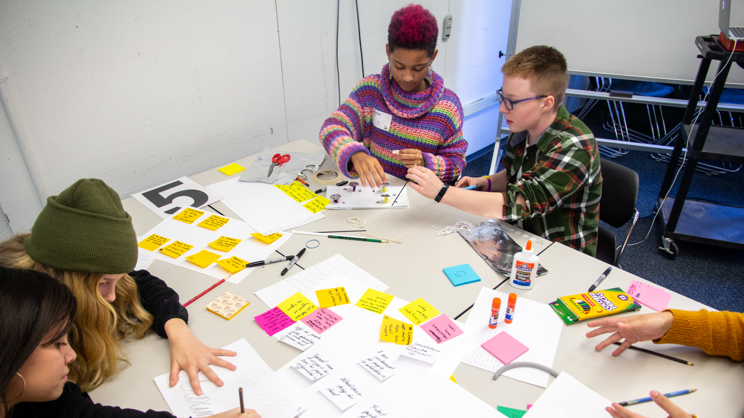 Students design together on field trip