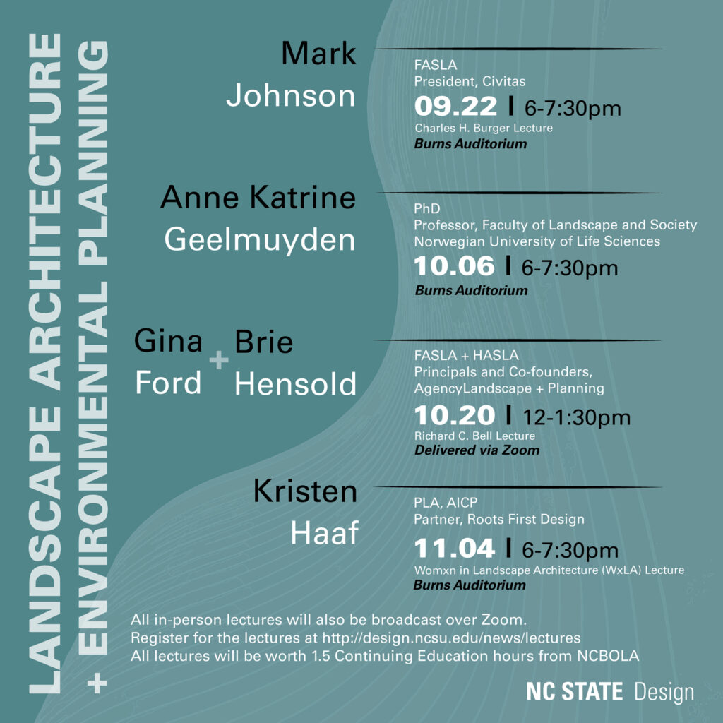 Landscape Architecture Lecture Series Fall 2021